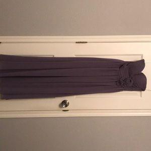 Plum long dress size 6 straps included chiffon